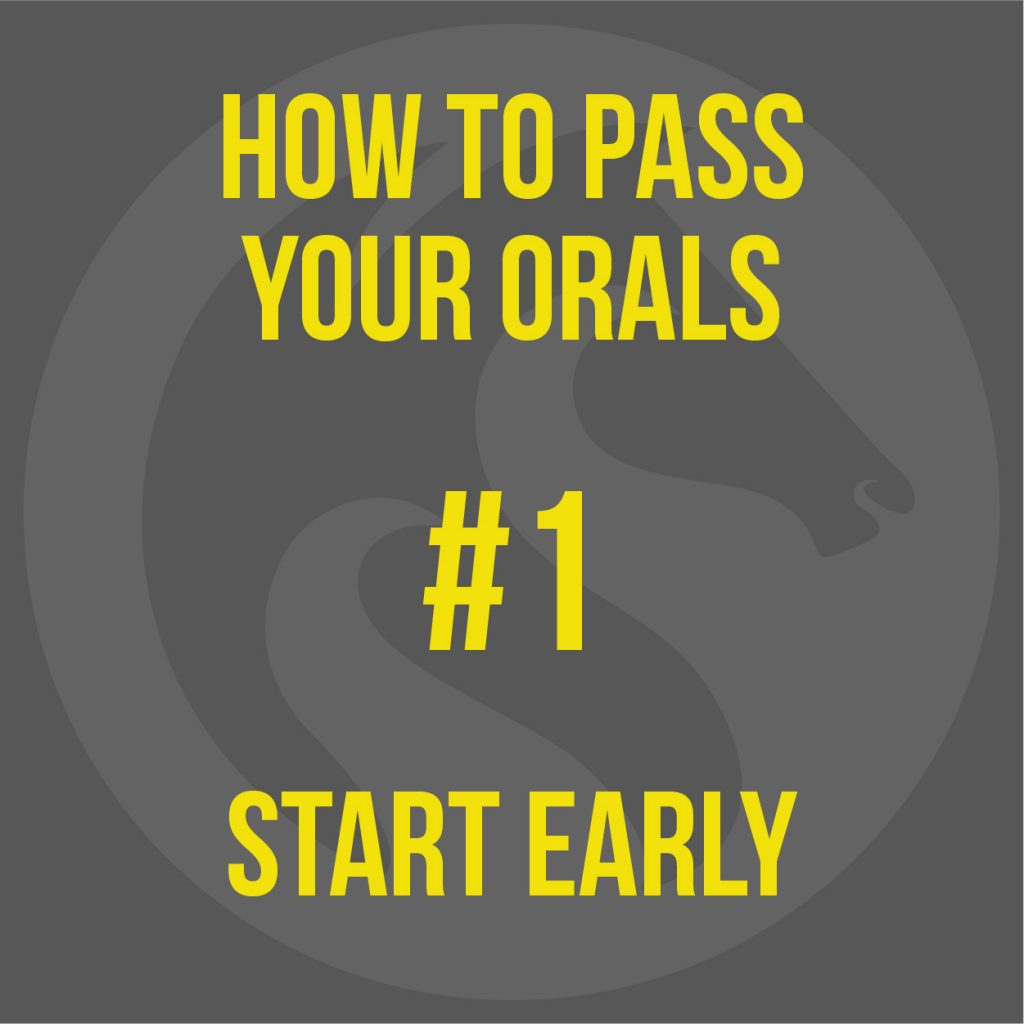 How to pass your MCA oral exam