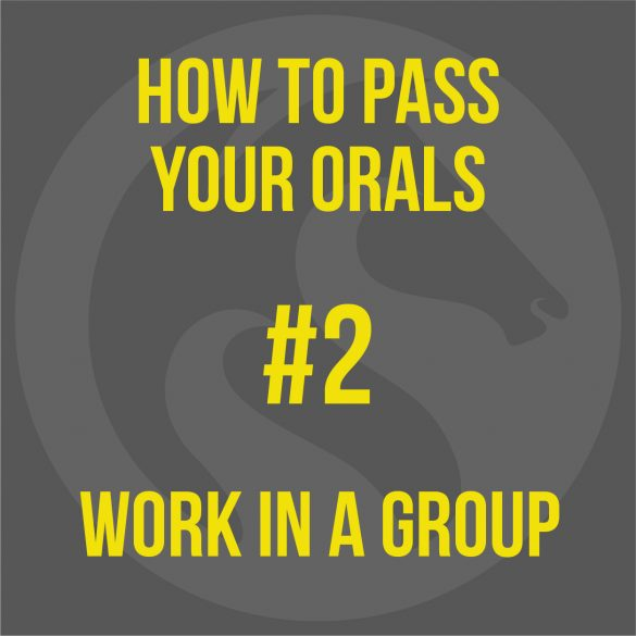 How To Pass Your MCA Oral Exam - Work In A Group