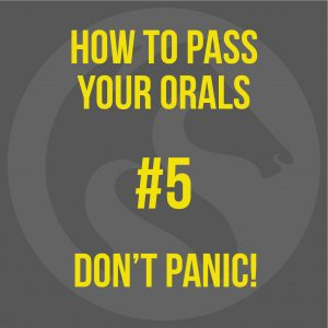 How To Pass Your MCA Oral Exam - Don't Panic